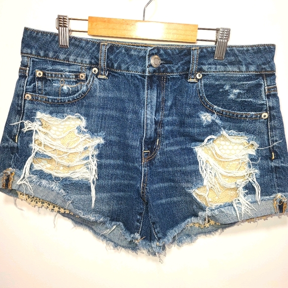 American Eagle High Rise Festival Jean Shorts